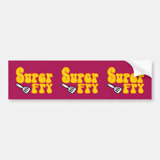 Super Fry (Funny Blaxploitation) Bumper Sticker
