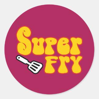 Super Fry (Funny Blaxploitation) Classic Round Sticker