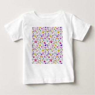 Super Fun Black White Rainbow Sweet Sketch Cartoon Baby T-Shirt