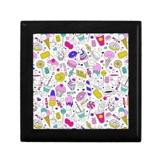 Super Fun Black White Rainbow Sweet Sketch Cartoon Gift Box