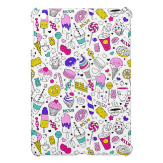 Super Fun Black White Rainbow Sweet Sketch Cartoon iPad Mini Cases