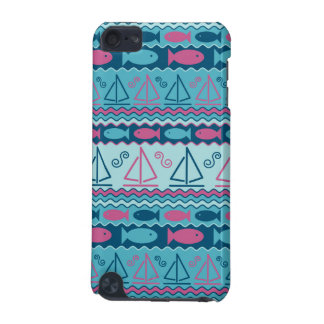 Super Fun Fish And Sailboat Pattern iPod Touch 5G Cover
