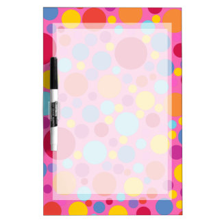 SUPER FUN PINK BUBBLEGUM, GIRLY POLKADOT BOARD