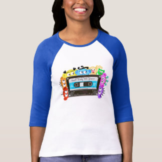 Super Funky 80's Old School- Planet Peek-A-Boo T-Shirt