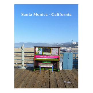 Super Funky Santa Monica Postcard! Postcard