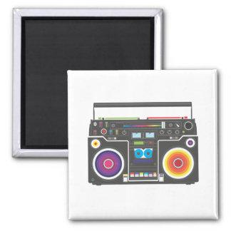 Super Funky Super Colorful Square Magnet