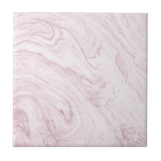 Super Girly PINK Marble Abstract Art Swirl! Ceramic Tile