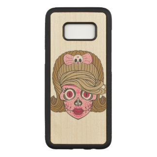 Super Girly Sugar Skull Carved Samsung Galaxy S8 Case