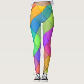 Super Groovy Bright Fun Colorful Leggings