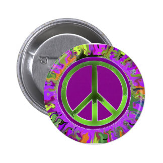 SUPER Groovy Peace Sign 6 Cm Round Badge