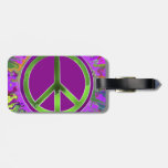SUPER Groovy Peace Sign Tags For Bags