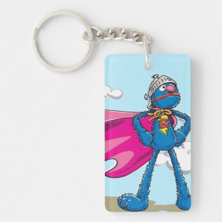 Super Grover Double-Sided Rectangular Acrylic Key Ring