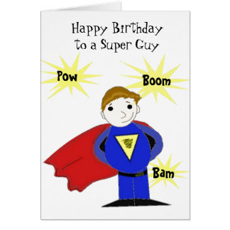 Super Guy Birthday Greeting Card
