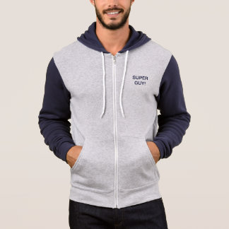 SUPER GUY NAVY/SILVER ATHLETIC HOODIE = EXCEPTIONA