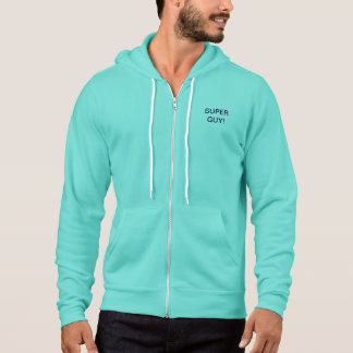 SUPER GUY TEAL ATHLETIC HOODIE = EXCEPTIONAL