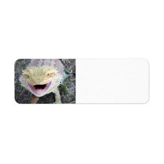 Super Happy Bearded Dragon Return Address Label