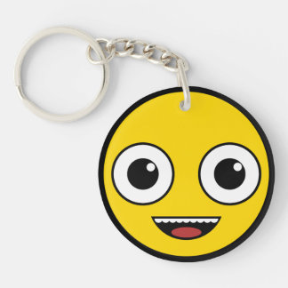 Super Happy Face Key Ring