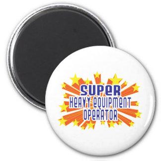 Super Heavy Equipment Operator 6 Cm Round Magnet