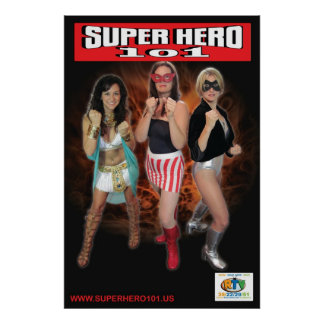 Super Hero 101 Three Superheroines Poster