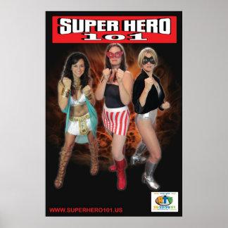Super Hero 101 Three Superheroines Poster
