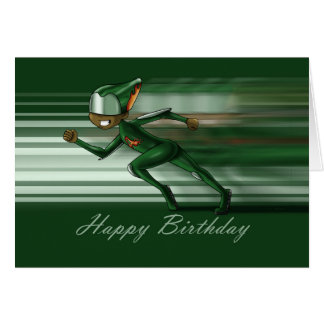 Super Hero Accelerate Birthday Card