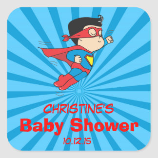 Super Hero Baby Shower Favor Labels