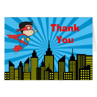 Super Hero Baby Shower Thank You Card