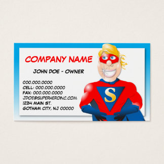 Super Hero Business Card - Horizontal1