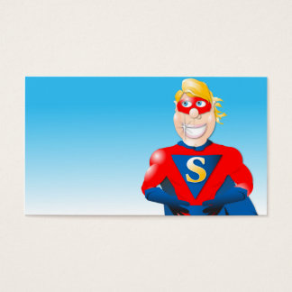 Super Hero Business Card- Horizontal2 Business Card