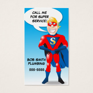 Super Hero Business Card Shell - vertical