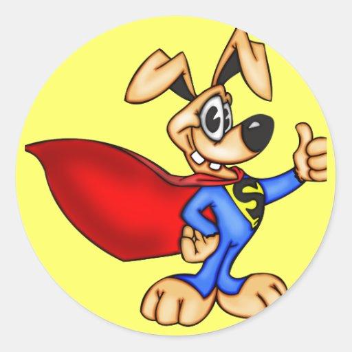 Super Hero Cartoon Dog Stickers