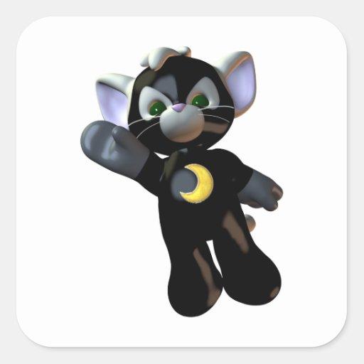 Super Hero Cat Stickers