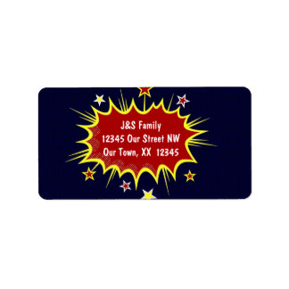 Super Hero Christmas Address Label