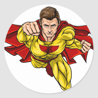 Super Hero Classic Round Sticker
