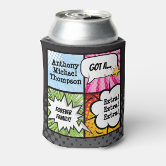Super Hero Comic Book Adoption, Family Gift Can Cooler
