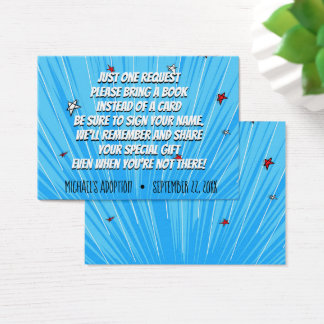 Super Hero Comic Book Adoption, Party Supplies Business Card