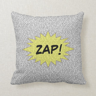 Super Hero Comic Speak Pillow