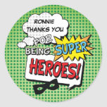 Super Hero Comic Strip Mask Kids Birthday Stickers