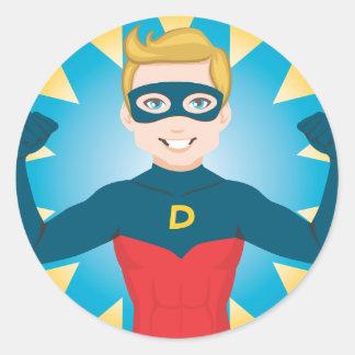 Super Hero Dad Round Sticker