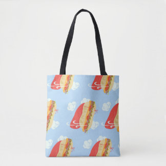 Super Hero flying Sandwich Tote Bag