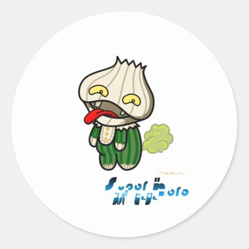 Super Hero - Garlic Man Stickers