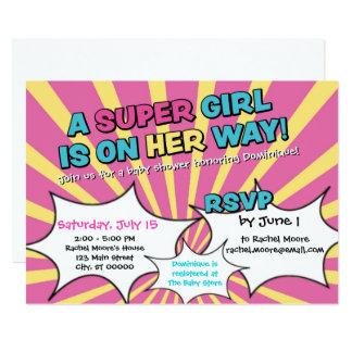 Super Hero Girl Baby Shower Invitation