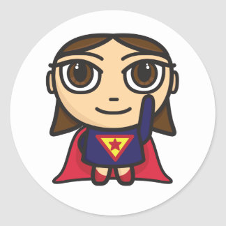 Super Hero Girl Character Sticker