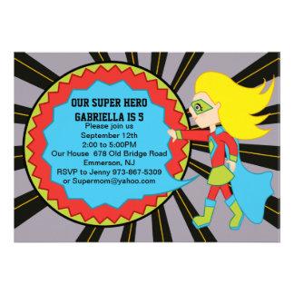 Super Hero Girls Birthday Invitation