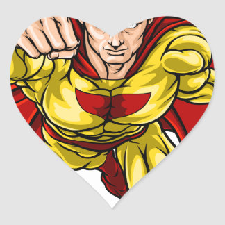 Super Hero Heart Sticker