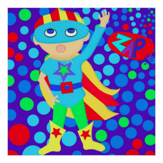 Super Hero Kid Posters