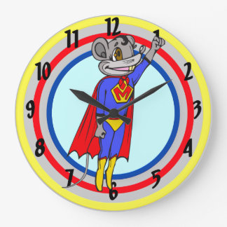 Super Hero Mouse Wall Clock