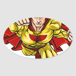 Super Hero Oval Sticker