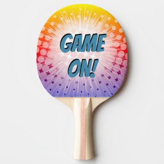 Super Hero Pop Art Purple Game On! Ping Pong Paddle