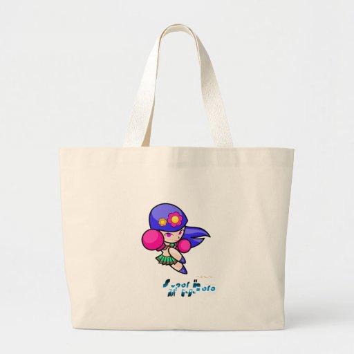 Super Hero - Punch Girl Tote Bags